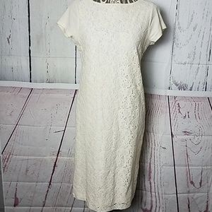 Ralph Lauren lace front cream dress